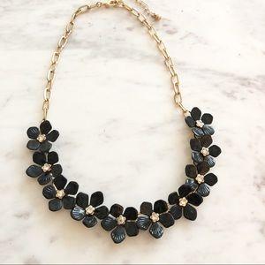 Jewelry - Black Flower Statement Necklace